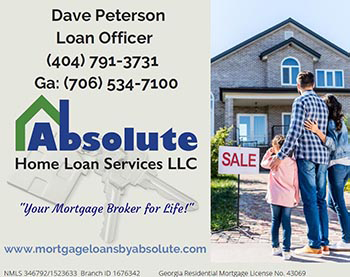 Absolute Home Loan Service LLC, Dave Peterson Loan Officer (404) 791-3731