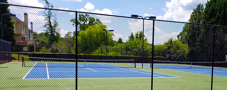 Twin Regulation Tennis Courts